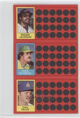 1981 Topps Baseball Scratch-Off - [Base] #40-22-3 - Reggie Jackson, Dave Revering, Dan Meyer