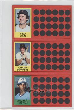 1981 Topps Baseball Scratch-Off - [Base] #42-24-5 - Fred Lynn, Champ Summers, Damaso Garcia