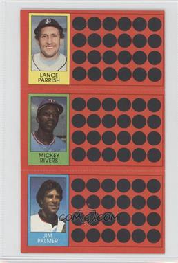 1981 Topps Baseball Scratch-Off - [Base] #50-31-14 - Mickey Rivers, Jim Palmer, Lance Parrish