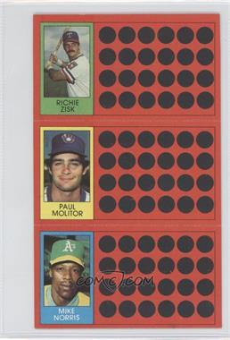 1981 Topps Baseball Scratch-Off - [Base] #53-35-16 - Richie Zisk, Paul Molitor, Mike Norris