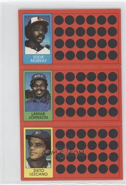 1981 Topps Baseball Scratch-Off - [Base] #9-26-45 - Eddie Murray, Lamar Johnson, Sixto Lezcano