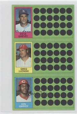1981 Topps Baseball Scratch-Off - [Base] #91-74-56 - Steve Garvey, Greg Luzinski, Ken Griffey