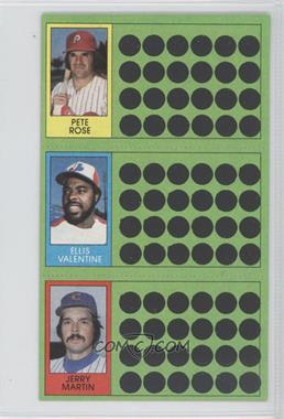 1981 Topps Baseball Scratch-Off - [Base] #98-80-62 - Pete Rose, Ellis Valentine, Jerry Martin