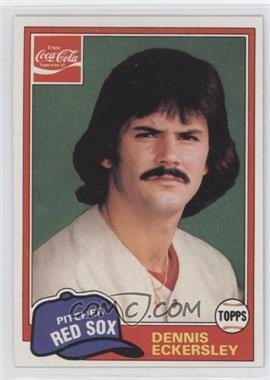 1981 Topps Coca-Cola Team Sets - Boston Red Sox #2 - Dennis Eckersley