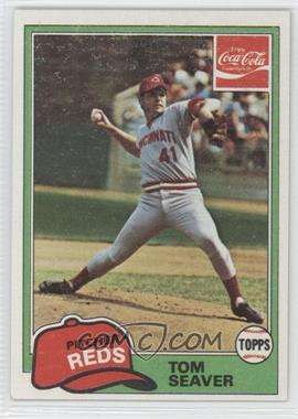 1981 Topps Coca-Cola Team Sets - Cincinnati Reds #10 - Tom Seaver