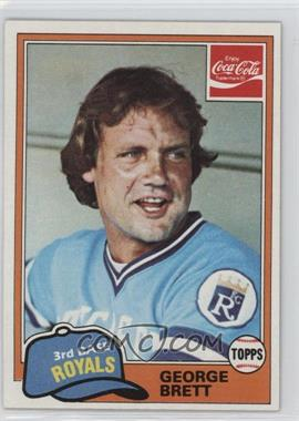 1981 Topps Coca-Cola Team Sets - Kansas City Royals #2 - George Brett