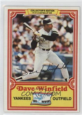 1981 Topps Drake's Big Hitters - [Base] #14 - Dave Winfield