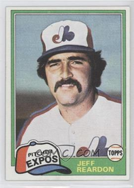 1981 Topps Traded - [Base] #819 - Jeff Reardon