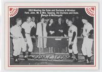 Johnny Mize, Whitey Ford, Dan Topping, Duchess of Windsor, Duke of Windsor, Cas…