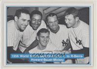 Mickey Mantle, Johnny Kucks, Yogi Berra, Elston Howard