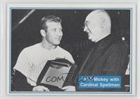 1957-Mickey with Cardinal Spellman