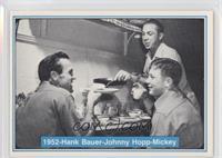 Mickey Mantle, Hank Bauer, Johnny Hopp