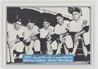 Mickey Mantle, Yogi Berra, Joe Collins, Hank Bauer, Gene Woodling