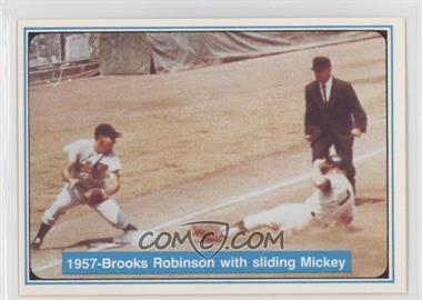 1982 ASA The Mickey Mantle Story - [Base] #35 - Mickey Mantle, Brooks Robinson