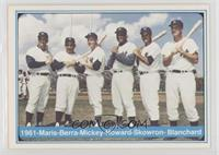 Roger Maris, Yogi Berra, Mickey Mantle, Elston Howard, Johnny Blanchard, Moose …