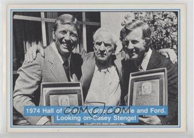 1982 ASA The Mickey Mantle Story - [Base] #66 - Mickey Mantle, Whitey Ford, Casey Stengel