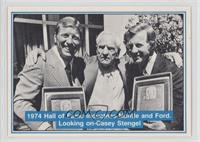 Mickey Mantle, Whitey Ford, Casey Stengel