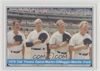 Billy Martin, Joe DiMaggio, Mickey Mantle, Whitey Ford