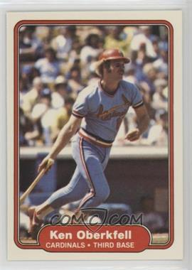 1982 Fleer - [Base] #123 - Ken Oberkfell