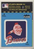 Atlanta Braves Logo/Stat Tab (Puzzle on Back)