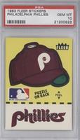 Philadelphia Phillies Hat (Puzzle on Back) [PSA10]