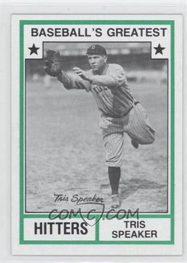 1982 TCMA Baseball's Greatest - Hitters - Tan Back #1982-18 - Tris Speaker