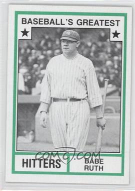 1982 TCMA Baseball's Greatest - Hitters - Tan Back #1982-19 - Babe Ruth