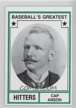 1982 TCMA Baseball's Greatest - Hitters - Tan Back #1982-27 - Cap Anson