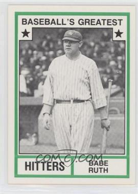 1982 TCMA Baseball's Greatest - Hitters - White Back #1982-19 - Babe Ruth