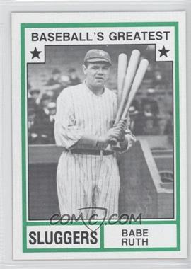 1982 TCMA Baseball's Greatest - Sluggers - Tan Back #1982-18 - Babe Ruth