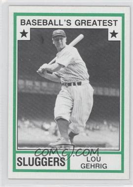 1982 TCMA Baseball's Greatest - Sluggers - Tan Back #1982-19 - Lou Gehrig