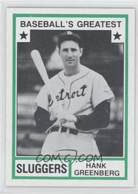 1982 TCMA Baseball's Greatest - Sluggers - Tan Back #1982-27 - Hank Greenberg