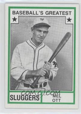 1982 TCMA Baseball's Greatest - Sluggers - Tan Back #1982-32 - Mel Ott