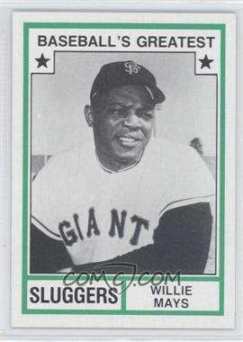 1982 TCMA Baseball's Greatest - Sluggers - Tan Back #1982-43 - Willie Mays