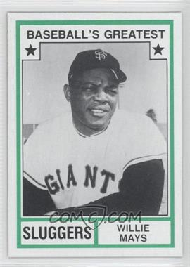 1982 TCMA Baseball's Greatest - Sluggers - Tan Back #1982-43 - Willie Mays