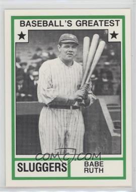 1982 TCMA Baseball's Greatest - Sluggers - White Back #1982-18 - Babe Ruth