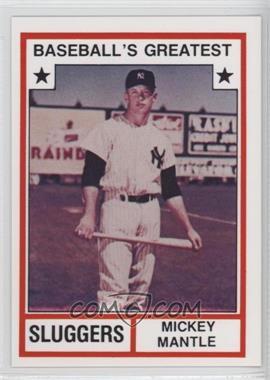 1982 TCMA Baseball's Greatest - Sluggers - White Back #1982-3 - Mickey Mantle