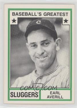 1982 TCMA Baseball's Greatest - Sluggers - White Back #1982-45 - Earl Averill