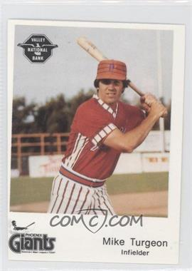 1982 The Dugout Phoenix Giants - [Base] #17 - Mike Turgeon