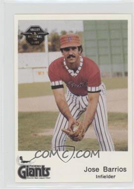 1982 The Dugout Phoenix Giants - [Base] #24 - Jose Barrios