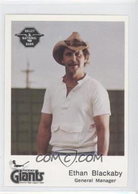 1982 The Dugout Phoenix Giants - [Base] #N/A - Ethan Blackaby