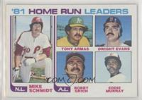 Mike Schmidt, Tony Armas, Dwight Evans, Bobby Grich, Eddie Murray [Poor to…