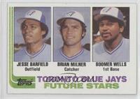 Future Stars - Jesse Barfield, Brian Milner, Boomer Wells
