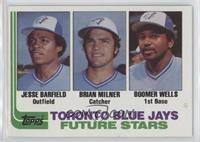 Jesse Barfield, Brian Milner, Boomer Wells [EX to NM]
