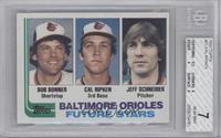 Bobby Bonner, Cal Ripken Jr., Jeff Schneider [BGS7NEARMINT]