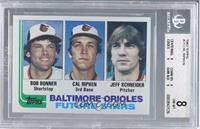 Bobby Bonner, Cal Ripken Jr., Jeff Schneider [BGS 8 NM‑MT]