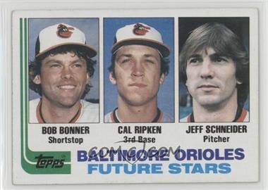 1982 Topps - [Base] #21 - Bobby Bonner, Cal Ripken Jr., Jeff Schneider