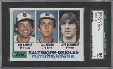1982 Topps - [Base] #21 - Bobby Bonner, Cal Ripken Jr., Jeff Schneider [SGC84]