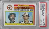 Eddie Murray, Sammy Stewart [PSA 10 GEM MT]