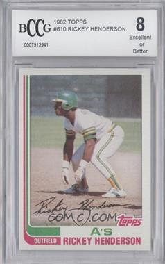 1982 Topps - [Base] #610 - Rickey Henderson [ENCASED]